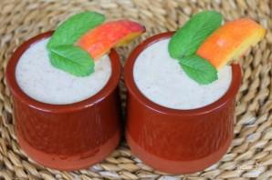 Полезный коктейль из йогурта с персиком и семенами льна - фото шаг 6