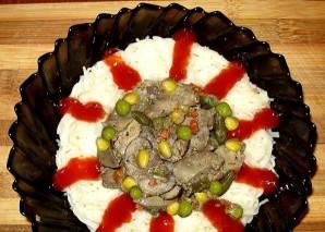 Печень с грибами в мультиварке - фото шаг 5