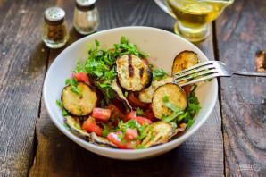 Хрустящие баклажаны с помидорами и кинзой