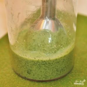 Зеленый салат с форелью - фото шаг 5