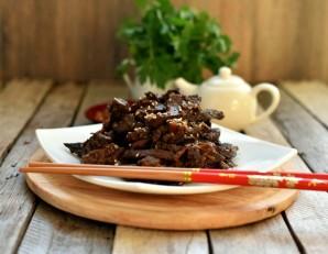 Горячая закуска из печени с грушей - фото шаг 6