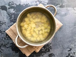 Грибной суп из шампиньонов с гречкой - фото шаг 2