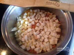Тыквенно-сельдерейный суп с запеченным нутом - фото шаг 7