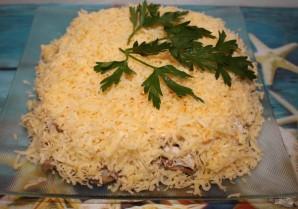 Слоеный салат с куриным филе - фото шаг 8