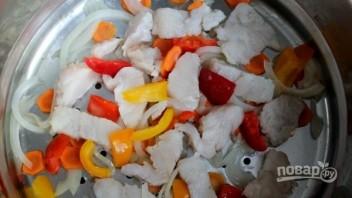 Рыба с овощами в пароварке - фото шаг 3