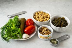 Салат с нутом и морской капустой - фото шаг 1