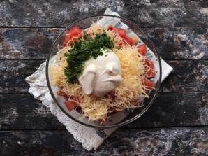Салат с фасолью и копченой колбасой - фото шаг 6
