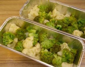 Брокколи и цветная капуста в духовке - фото шаг 2