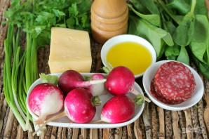 Салат с редиской и колбасой - фото шаг 1