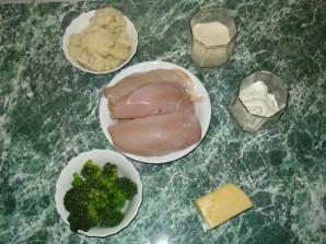 Курица с брокколи и цветной капустой - фото шаг 1