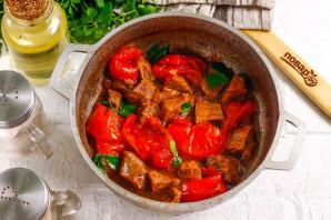 Тушеная говядина с вялеными помидорами - фото шаг 9