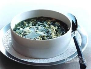 Суп из шпината с яйцом - фото шаг 10