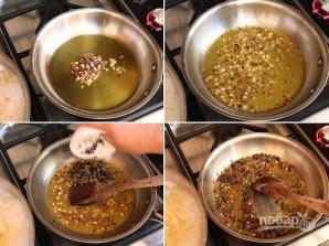 Паста с анчоусами и оливками - фото шаг 1