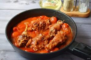 Жареная курица с луком-шалот и помидорами - фото шаг 8