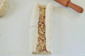 Хачапури с тунцом - фото шаг 9