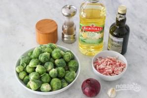 Теплый салат с брюссельской капустой - фото шаг 1