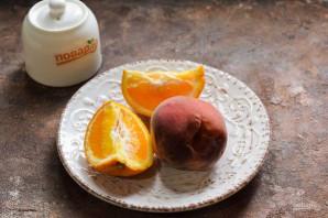 Компот из персиков и апельсинов на зиму - фото шаг 1