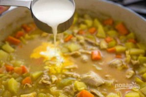 Зимний суп с курицей - фото шаг 8