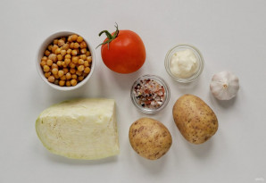 Салат с капустой и нутом - фото шаг 1