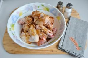 Куриные крылышки в медово-чесночном маринаде - фото шаг 3