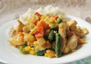 Курица с овощами и рисом - фото шаг 6