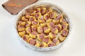 Макароны с мясом под соусом - фото шаг 4