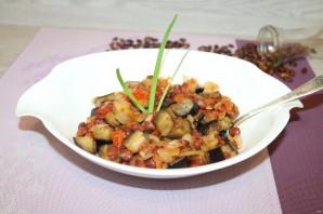 Салат с баклажанами и фасолью - фото шаг 13