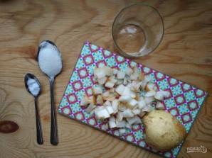 Сырники с грушами - фото шаг 2