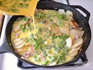 Фриттата с ветчиной и картофелем - фото шаг 5