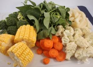 Овощи в пароварке - фото шаг 2