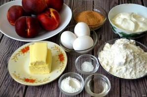 Пирог с персиками от Юлии Высоцкой - фото шаг 1