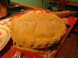 Пирог с лисичками и курицей - фото шаг 10