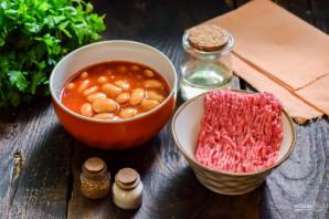 Фарш с фасолью в томатном соусе - фото шаг 1
