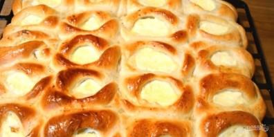 Открытые пирожки с творогом - фото шаг 8