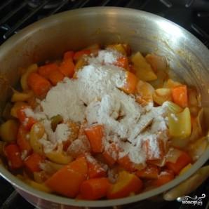 Курица с овощами в цитрусовом соусе - фото шаг 7