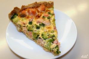Пирог с лососем и брокколи - фото шаг 11