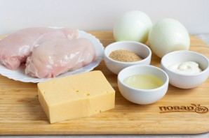 "Курица с сыром ""по-французски"" - фото шаг 1"