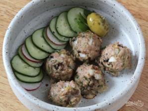 Шарики из индейки с грибами и оливками - фото шаг 6