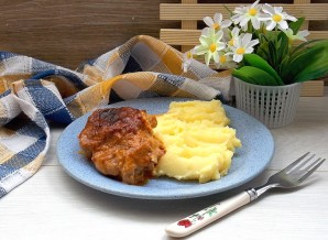 Запеченная в крем-соусе курица  - фото шаг 8