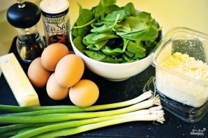 Омлет со шпинатом - фото шаг 1