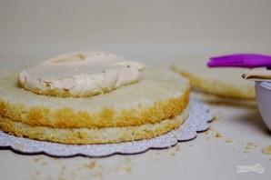 Торт с миндалём и солёной карамелью - фото шаг 11