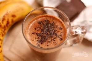 Горячий банановый коктейль с шоколадом - фото шаг 6