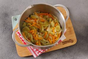 Салат из зеленых помидоров без стерилизации на зиму - фото шаг 7