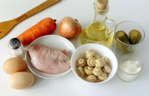 Машеровский салат с грибами - фото шаг 1
