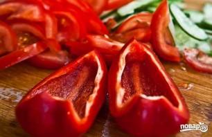 Салат из свежих овощей - фото шаг 3