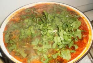 Зеленый борщ с щавелем и томатом - фото шаг 3