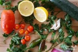 Салат с фарро, овощами и кедровыми орешками - фото шаг 1