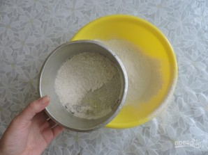 Лепешки с сыром на кефире на сковороде - фото шаг 3