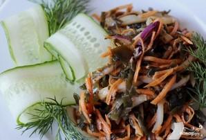 Салат из кальмаров и морской капусты - фото шаг 4