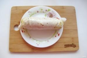 Куриный рулет с гречкой и грибами - фото шаг 7
